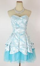 Masquerade USA Grand $120 Prom Formal Cruise Short Cocktail Dress size 3 Seafoam