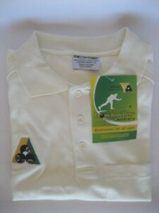 Bowlswear Mens Cream Polo Top Shirt - Clearance - HALF PRICE! Now only $22.50