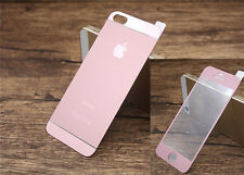 New Front + Back Matte Screen Protector Tempered Glass Film Cover For iPhone 5 6