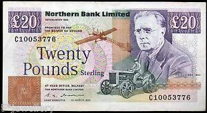 REAL DEL NORTE Banco Ltd. Belfast Twenty BILLETES 1988 1989 1990 1992 1993 1996