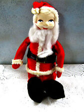 "Vintage 9"" HOLIDAY FAIR Santa Claus Doll Figurine JAPAN 1950's 60's? Christmas"