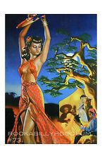Pin Up Girl Poster 11x17 mexican beautiful señorita Spanish Dancer Latina