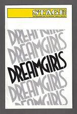"""LaChanze """"DREAMGIRLS"""" Henry Krieger / Michael Bennett 1986 Detroit Playbill"""
