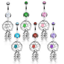 6pc Dream Catcher Navel Rings 14g Belly Naval dreamcatcher wholesale lot (b216)