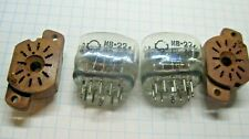 Lot of 2 Vintage IV-22 IV 22 IV22 SOVIET NIXIE VFD TUBE Blue + socket Tested