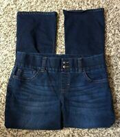 Petite Riders By Lee Women's Dark Blue Denim Pull-On Jeans-Size 16 P
