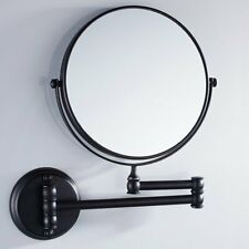 Oil Rubbed Bronze Double Side Folding Makeup Mirror Wall Mounted 3x Magnifying
