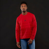 """Nike Jordan Aerolayer 23 Tech Quilted Training Crew Top Red $180 Retail   """"BRED"""""""