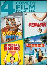 4 COMEDY FILM FAVORITES New 4 DVD Bachelor Party Porky's Nerds Weekend Bernie's