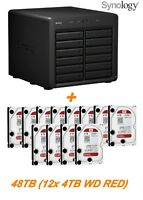 € 2362+IVA SYNOLOGY DX1215 48TB Expander Unit 12-Bay SATA (12x 4TB WD RED)