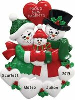 "Personalized "" PROUD NEW PARENTS "" Christmas Hanging Tree Ornament HOLIDAY 2020"