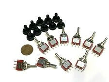10 pcs Waterproof CAP SPDT 3 Pins 5v 12v Momentary Toggle Switch mts1 6a 125v A4
