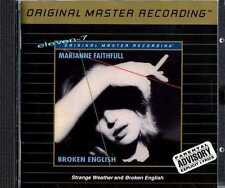 Marianne FAITHFULL Broken English & Strange Weather MFSL UDCD 640 in MINT