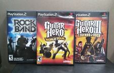 "Rockband / Guitar Hero / Guitar Hero 3    (Playstation 2)  Games & Manuals   ""T"""