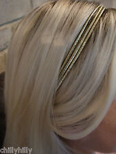 Accessorize Ladies Triple Strand Shiny Gold Coloured Headband RRP £4.00 BNWT