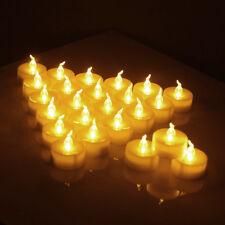 Warm White LED Tea Light Candles Household Church Wedding Decor Lights Up 24PCS