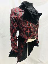 "Raven  Red/Black Daggers Brocade  Penguins Tail & Black Shirt Chest Size 36/38"""