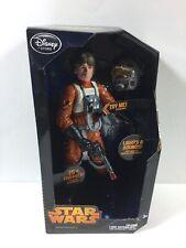 Star Wars Disney Store Talking Luke X-Wing Pilot Lights Sounds Action Figure MIB