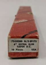 "Simonds 6"" Extra Slim Taper Files (7) in Original Box Vintage NOS"