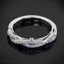 Wedding Band Twist 14K White Gold Certified 0.78Ct Round Diamond Half Eternity