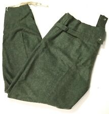 WWII GERMAN M43 WOOL COMBAT FIELD GREY TROUSERS- SIZE LARGE