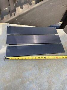 "Rack Panel Accessory Blank 3U Space for 19"" Rackmount, Premium Black Lot of 3"