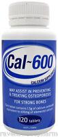 1 x Cal 600 Cal-600 (Calcium 600mg 120 tablets) ::SAME AS CALTRATE::
