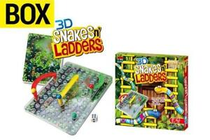 3D Snake  & Ladders Classic Family Game Box Toy w/Dice Age 3+ 2+ Players AU Post