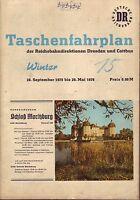 Fahrplan Reichsbahndirektionen Dresden u. Cottbus 1975/1976 RAR!