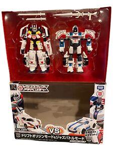 Transformers Adventure TAV VS05 DRIFT ORIGIN MODE & JAZZ BATTLE MODE MIB RID