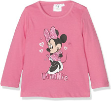 Disney Minnie Maus Baby Mädchen Langarmshirt, rosa mit Glitzereffekt