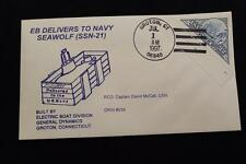 DRW NAVAL COVER #254 DELIVERED TO NAVY USS SEAWOLF (SSN-21) 1997 HAND CANCEL