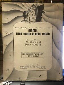 1938 Professional Copy Sheet Music MARTHA RAYE Big Broadcast/1938