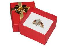 LOT OF 24 BOXES BOW-TIE RING BOX BOW TIE GIFT BOX JEWELRY BOX RED BOXES SHOWCASE