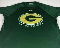 Grayson Football Shirt Mens Medium Georgia School Rams Under Armour Heat Gear