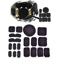 19Pcs/Set Tactical Military Helmet Pads Hunting Helmet Protective Pad M Fw