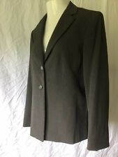 Jones NY Collection Stretch Women's 14 Blazer Two Button Suit Jacket Truffle