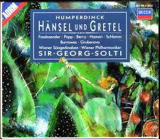HUMPERDINCK: HÄNSEL UND GRETEL Fassbaender Popp Hamari Berry Gruberova SOLTI 2CD