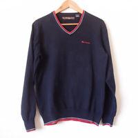 BEN SHERMAN Mens Navy Blue Cotton Long Sleeve Knit Sweater Jumper Size M
