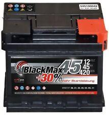 Autobatterie 12V 45Ah 420 A/EN BlackMax 45 ersetzt 36 40 41 43 44 46 48 50 Ah