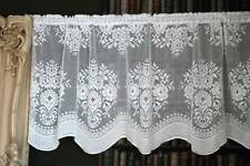 "Vintage Countess cotton lace window valance shabby chic cottage brise-bise 24"" w"
