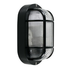 IP44 Black Outdoor Garden Exterior Security Bulkhead Wall Light Outside Lighting