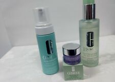 Lot of 3 Clinique Products-Facial Soap-Acne Solutions-Cleansing Balm