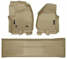 Husky Liners WeatherBeater Floor Mats - 3pc - 99713 - Ford F250/F350/F450 - Tan
