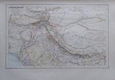 Karte aus 1889 - Turkestan Hindustan - alte Landkarte old map