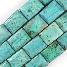 "25mm chrysocolla rectangle beads 8"" strand 8 pcs"