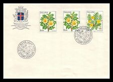 Iceland 1984 FDC, Flowers VI. Burnet Rose / Silver Weed. Lot # 7.