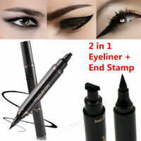 2IN1 Winged Eyeliner Stamp Waterproof Makeup Cosmetic Eye Liner Pencil Liquid