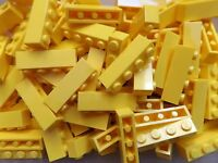 20 Brand New LEGO 1x4 Yellow Brick Bricks Crafts Spare Parts  1 x 4 No. 3010