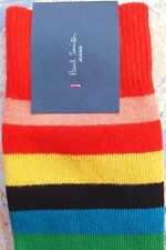 Paul Smith Mens Italian Socks Mali Stripe Multi K428 Cotton Wool Cashmere Mix